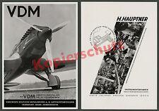 VDM Tiges Hélice Francfort warnemiinde avion Heinkel He 70 aviation 1936