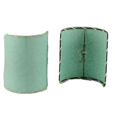 Vintage 50s Mint Green Bulb Light Shades Wall Sconce Covers Set of Two Home