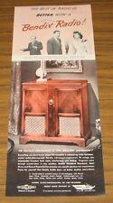 1947 Print Ad Bendix Radio Phonograph Sunday Prudential Family Hour Show