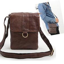 """New Men fashion Genuine Leather Cross Bag Message shoulder Bag """"Brown""""(B-024)"""