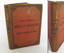 ANTIQUE MULTI LINGUAL CONVERSATION TRANSLATOR BOOK FOR TRAVELERS BY J.CONNER