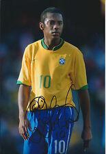 ROBINHO Robson de Souza Signed 12x8 Photo AFTAL COA Full Autograph BRAZIL RARE