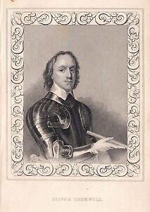 1840 Viktorianisch Aufdruck ~ Porträt Von Oliver Cromwell