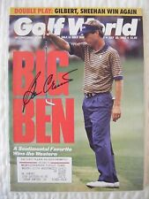 BEN CRENSHAW signed 1992 Golf World magazine AUTO Autographed TEXAS LONGHORNS UT