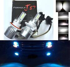 LED Kit C6 72W 9008 H13 8000K Blue Two Bulbs Head Light Plug Play Lamp Replace