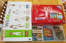 Nintendo Wii Limited Edition Red Console, Wii Sports, Wii Fit Plus, Games
