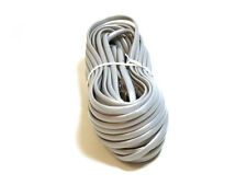 50ft RJ11 6P4C STRAIGHT 4 Conductor Flat Silver Phone Line Cable Cord for Data