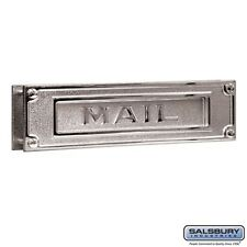 Salsbury Mail Slot - Deluxe - Solid Brass - Chrome Finish-MAILBOX 4075C NEW