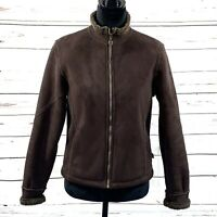 Kuhl Women's Jacket Full Zip Brown Faux Suede Microshearling Size S