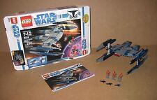 8016 LEGO Star Wars Hyena Droid Bomber 100% cmpt box & Instructions EX COND 2009