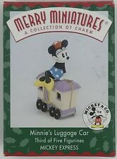 Mickey & Co Merry Miniatures Minnie's Luggage Car 1998 Hallmark Ornament