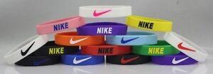 1 (One) Kids Size Nike Sport Silicone Rubber Bracelet Wristband Stretch