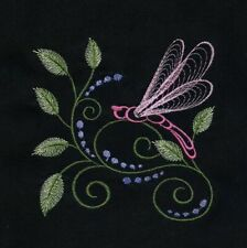 DRAGONFLY   EMBROIDERED QUILT BLOCKS