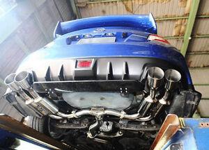 Invidia R400 Single Layer Cat Back Exhaust w/Polished Tips Fits 15-20 WRX / STi