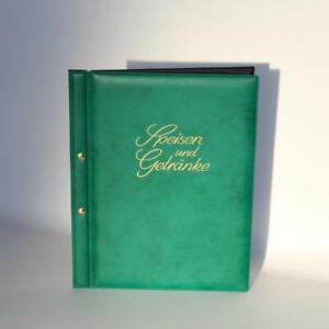 VIOLA SPEISEKARTE A4 mit 5 Sichthüllen, grün - innen schwarz mit Goldprägung