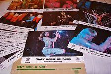 CRAZY HORSE DE PARIS ! jeu 16 photos cinema cabaret lido  lobby cards 1976