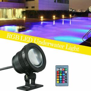 Submersible Swimming Pool Spa Bath LED Lights Waterproof Underwater+Remote