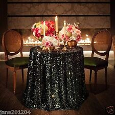 Sale Black 48'' Round Sequin Table cloth Cover For Wedding/Event/Party/Banquet