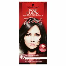 SCHWARZKOPF POLY COLOR TINT NATURAL BLACK 45 CREAM COLOUR