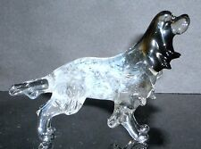 "HAND BLOWN ""MURANO"" GLASS COLLECTABLE ENGLISH SETTER DOG FIGURINE"