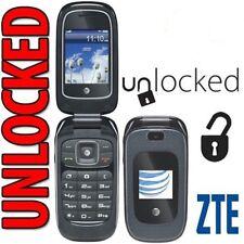New ZTE Z222 Dark Blue 3G GSM Unlocked Cellular Flip Phone with Camera