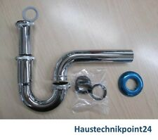 "Röhrensiphon Röhrengeruchsverschluss Röhrensifon Siphon 1 1/4"" x 32 mm chrom Neu"