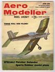 AEROMODELLER  Magazine June 1966 FLETCHER DEFENDER F/F Profile scale