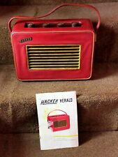 More details for vintage hacker herald portable radio reciever with instructions.