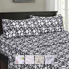 Flex Split Top King Sheet Set 100% Cotton Floral Patterns Sheets Collection