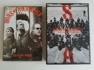 Sons Of Anarchy Season 4 (4 disc set) and 5 (5 disc set) DVD Region 1 Free Post