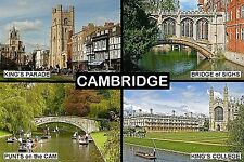 SOUVENIR FRIDGE MAGNET of CAMBRIDGE ENGLAND