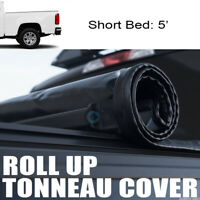 """ROLL-UP SOFT TONNEAU COVER FIT 15-19 CHEVY COLORADO/GMC CANYON CREW 5 FT 60"""" BED"""