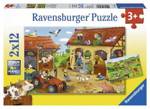 Ravensburger Puzzle 2x12pc - Working on the Farm RB07560-7