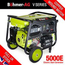 Portable Petrol Generator 7.5kw / 9.4kva Key Start Camping Power 5000k Bohmer