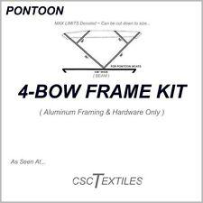 "4-BOW PONTOON Boat FRAME KIT w/Hardware 1""SQ BIMINI : USA-or-Canada"