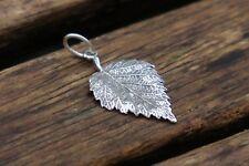Leaf Pendant, Silver Leaf Pendant, Sterling Silver Pendant, Nature Pendant, UK
