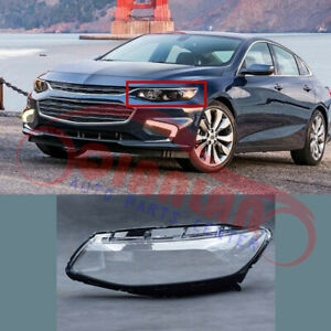 Left Side Headlight Headlamp Lens Cover With Glue For Chevrolet Malibu 2016-2018