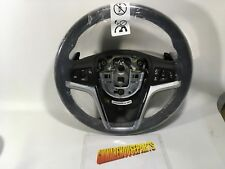 2012-2015 CAMARO BLACK LEATHER STEERING WHEEL WITH STONE STITCHING NEW  22790895