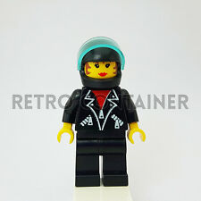 LEGO Minifigures - 1x tel003 - Woman - Leather Jacket Town Omino Minifig 1197