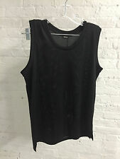2ND DAY - 2nd Jump Perforated Mesh Black Tank Top Opening Ceremony ASOS - S NWT