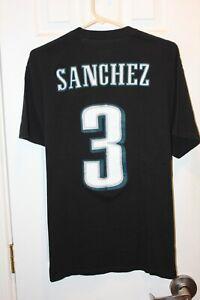 black Philadelphia Eagles Mark Sanchez (3) jersey t-shirt - adult XL