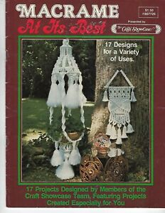 Macrame At Its Best with Wall Hanging, Coffee Table & Lamp Patterns Craft Book