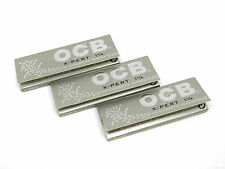 OCB Rolling Papers X-PERT 1 1/4 - 3 Packs - Finest Quality- 50 Papers EA - USA