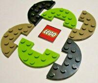 Plate 3x6 Round Half NEUF NEW 4 x LEGO 18646 Plaque Demi-Rond bleu, blue