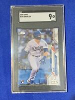 2020 Topps Gavin Lux Los Angeles Dodgers #292 SGC 9 MINT Rookie Hitting