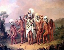 METAL FRIDGE MAGNET Medicine Mask Dance Native American Indian