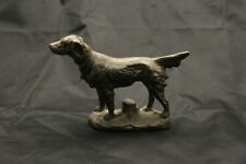 Cast Brass Dog nice patina English Irish Setter Hunting Retriever Paperweight