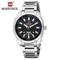 Naviforce 9038 Male Luxury Stainless Steel Week Date Men Waterproof Quartz Watch