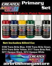 Createx Airbrush Colors 60ml Primary Set Importer Direct + Free Insured Post
