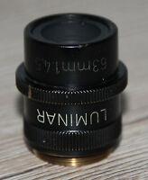Zeiss Mikroskop Microscope Objektiv Luminar 63mm 1:4,5 mit Blende